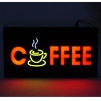 קפה חדש חנות LED סימנים פתוחים עיסוי עסקים סימן פתוח LED אנימציה תצוגת תנועה + על מתג הפעלה/כיבוי בהיר אור ניאון