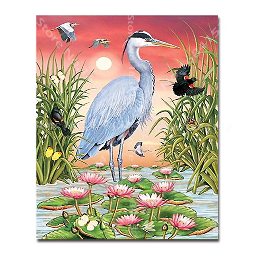 Hot Sale Full Square Drill 5d Diy Diamond Painting Birds 3d