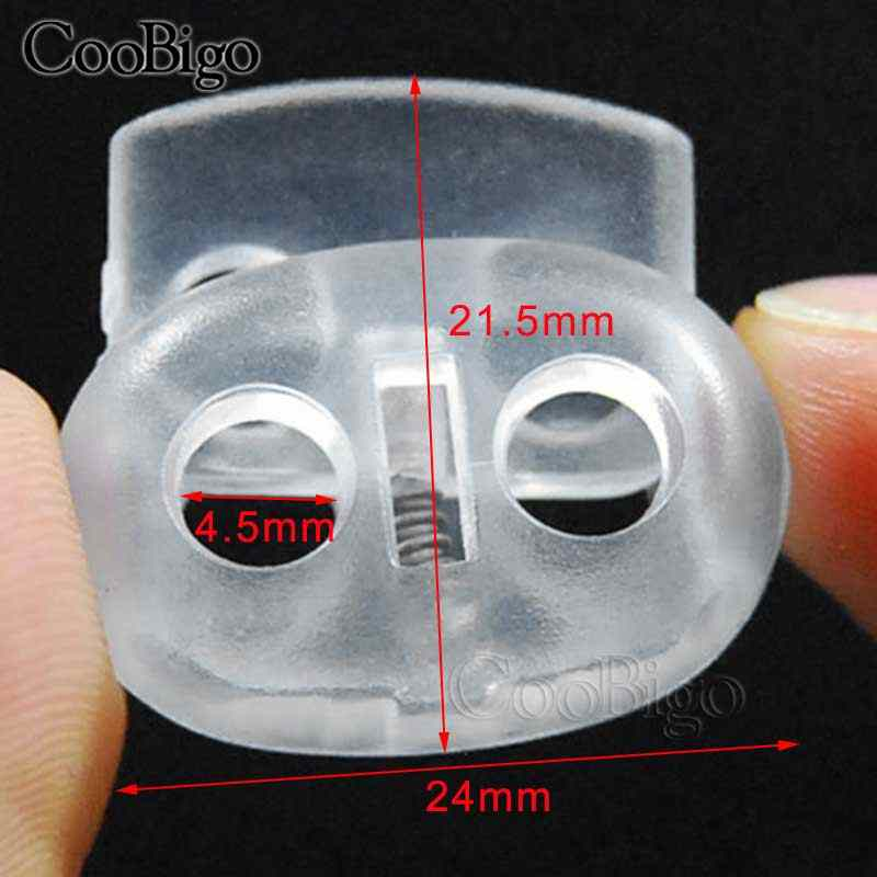 833d9c3d61fe 10pcs Ball Bean Cord Lock Plastic Stopper Cord End Toggle Clip Transparent  Clear Frost Shoelace Sportswear Bag Parts Accessories