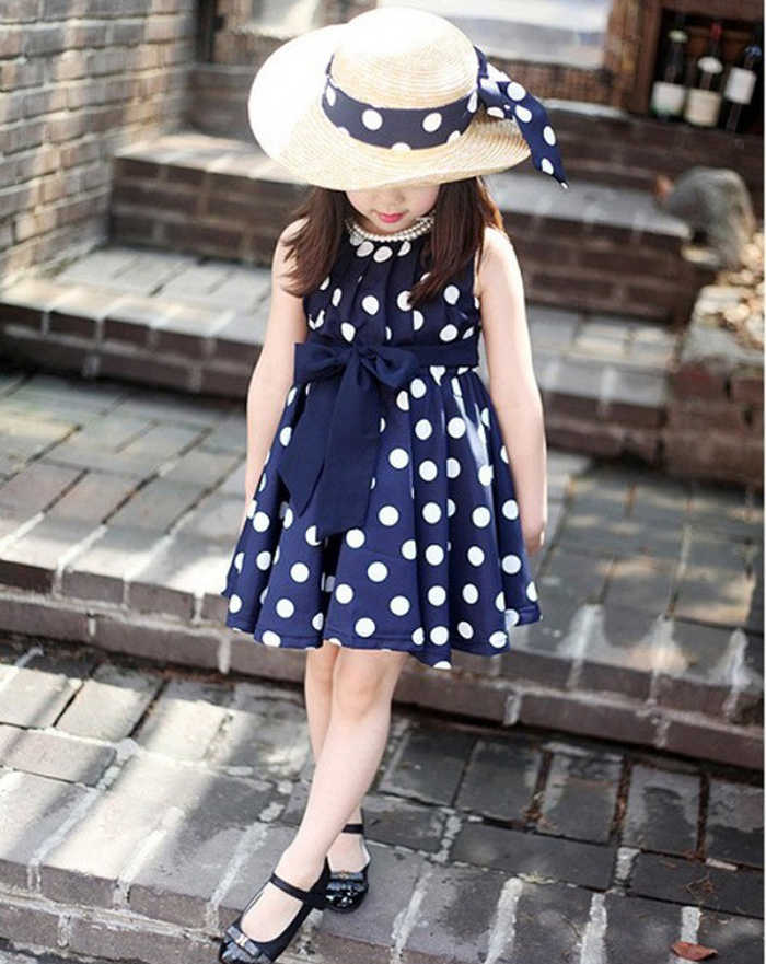 Hot Sale New 2019 1PC Kids Children Clothing Polka Dot Girl Chiffon Sundress Dress baby dress summer princess dress 15