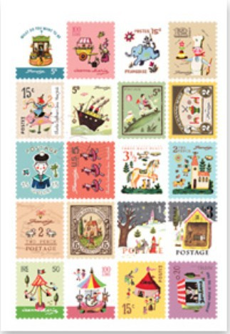 4sheets/lot  New paper cartoon style stamp deco Sticker Index Label Fashion ca0633 canada 2014 mammal stamp all sheets 1ms new 0626