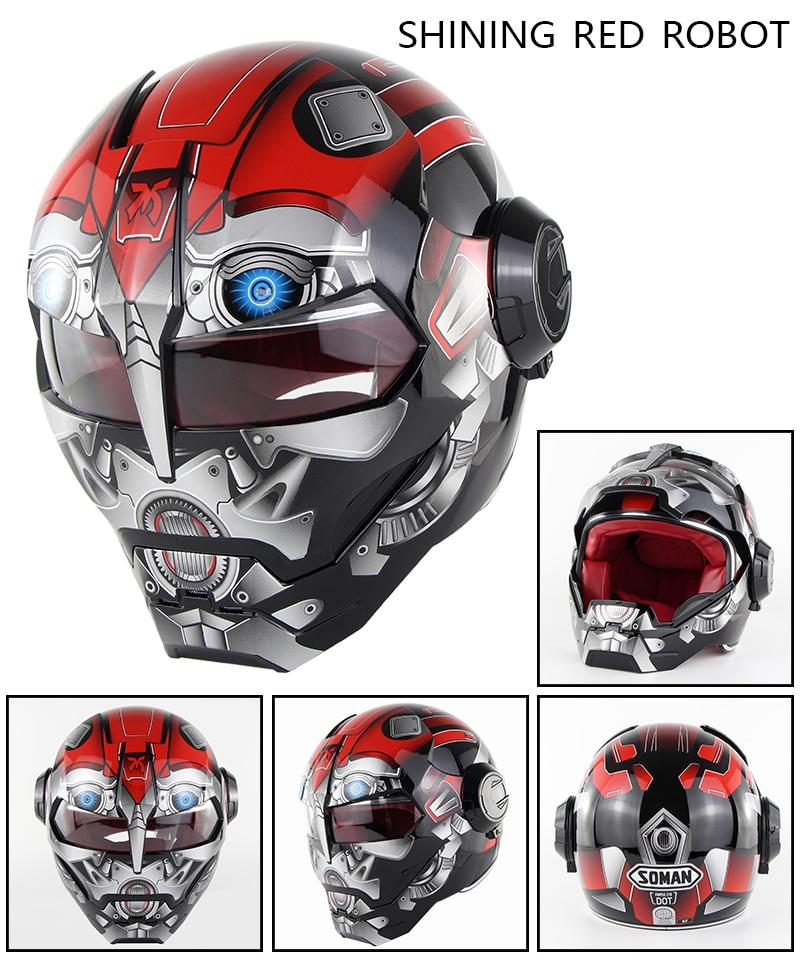 Robot Motorbike Armet Full Face Masei Moto Capacete Casco helmets motorcycle Flip Up helmet ABS Modular casque moto cross