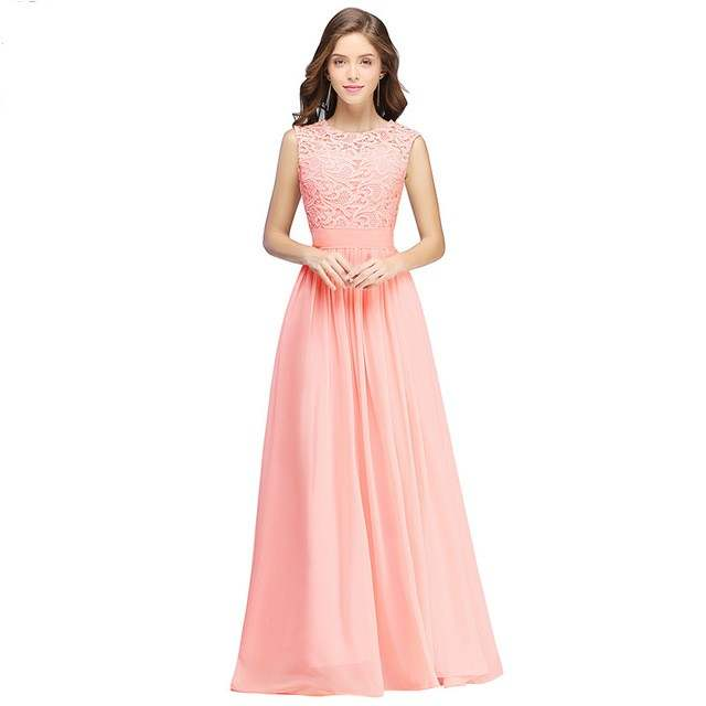 placeholder Robe demoiselle d honneur Country Style Mint Green Long Lace Bridesmaid  Dresses 2018 Chiffon Prom 0e220d8b0bb9
