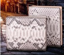 100%  Genuine/Real python skin leather bifold  wallets and purse  Men/Women + Luxury quality men wallet +Free shipping