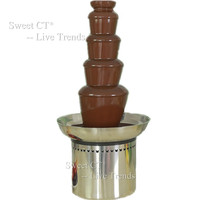 70cm 5 Tiers Chocolate Fountain Standard Model Stainless Steel Auger Event Party Supplies