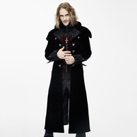 Devil Fashion 2017 Autumn Winter Gothic Men S Long Jackets Steampunk Black Red Warm Thick Coats