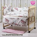 Promotion! 7pcs crib bedding set of unpick and wash baby bedding set bed sheets (bumper+duvet+matress+pillow)
