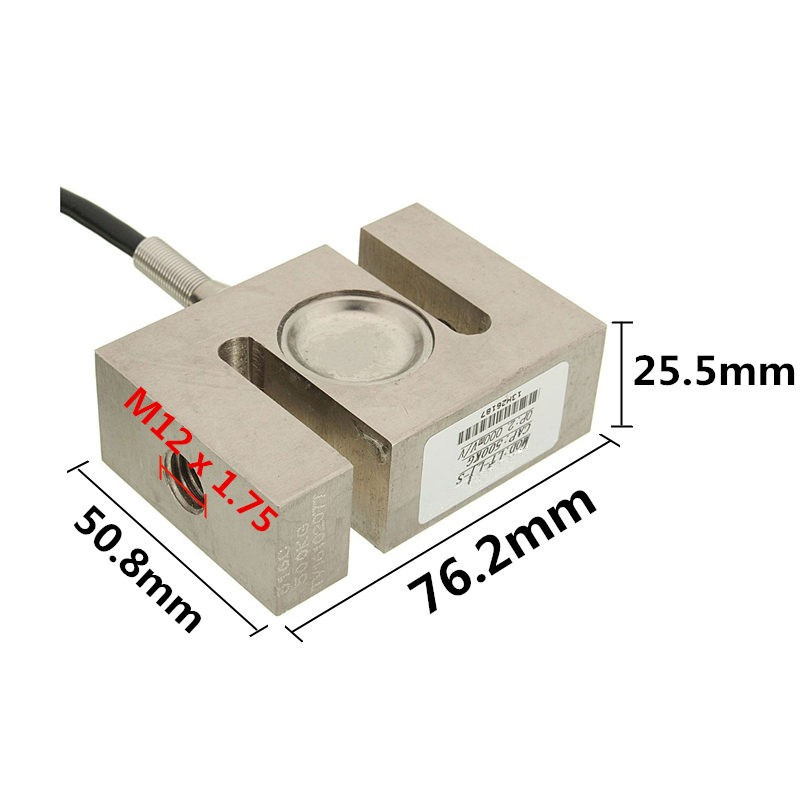 1PC S Type Alloy Steel Weighting Sensor 500kg Beam Load Cell Scale 2 95 x 1