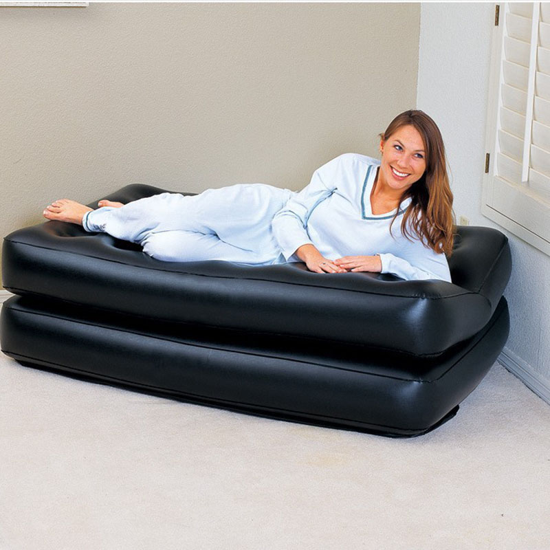 Image 3 - Camping Sofa PVC Outdoor Bed Apartment Folding Naive Home Sofa Black Furniture Modern Inflatable Air Sofa Beds Living Room Sofa-in Living Room Sofas from Furniture