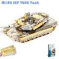 Piececool tanque m1a2 sep 3d puzzle diy 3d de metal cortado con láser asamblea Rompecabezas Modelo 3D Militar Nano Puzzle Juguetes para Niños de Regalos