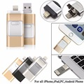 Flash Drive USB 16GB Memory Stick HD U Disk 3 in 1 for Android IOS i Phone PC