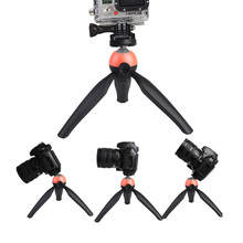 High quality Portable Lightweight Multifunctional Mini Tripod with Ball head 360 Degree Rotation for Gopro Camera Phone