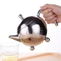 Stainless steel coffee teapot Three round foot teapot Coffee brewing teapot Hand brewing coffee pot wholesale 800ml