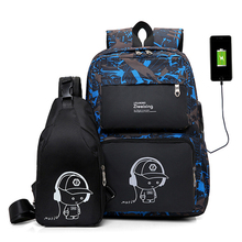 Cool Night Luminous Backpack Printing School Bagpack School Bags for Boys and Girls Schoolbags for Teenagers Mochila Infantil цена