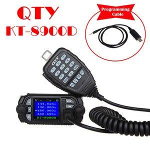 Image 2 - QYT KT 8900D mobil araba radyo VHF UHF 25W 4 Standy mobil radyolar mikrofon + USB programlama kablosu