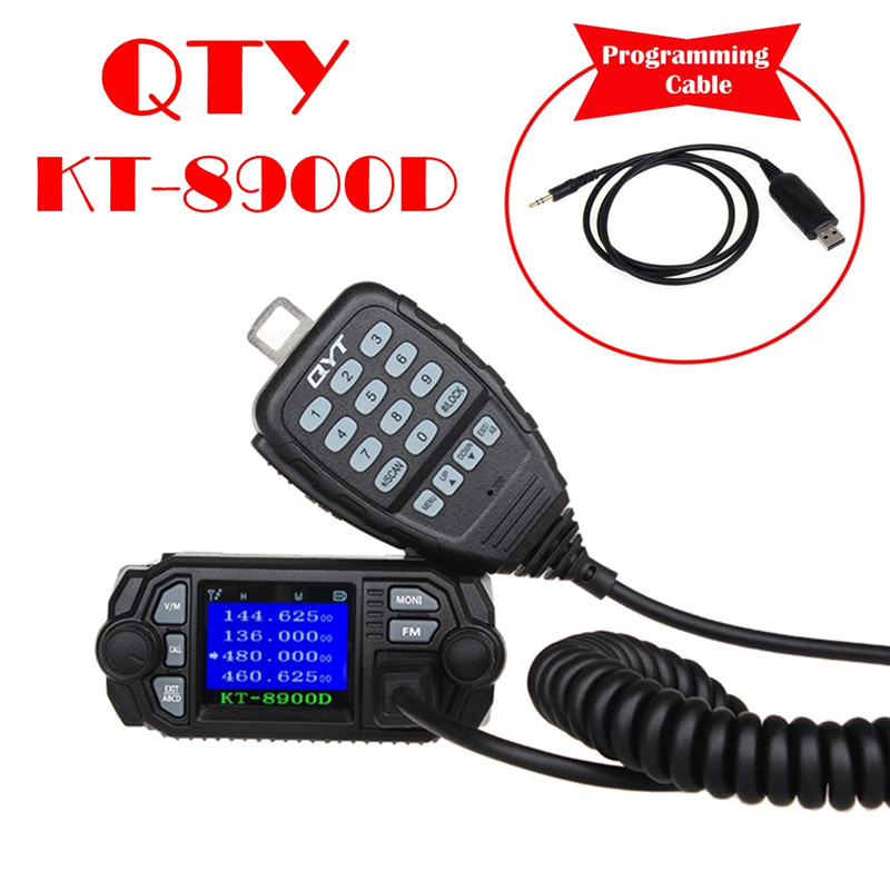 Image 2 - QYT KT 8900D mobile car radio VHF UHF 25W 4 Standy Mobile Radios MIC+USB Programming Cable-in Walkie Talkie from Cellphones & Telecommunications