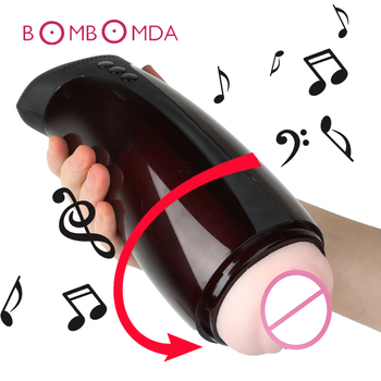 Male Masturbator Automatic Telescopic Masturbation Cup Intelligent Voice Sex Machine USB Rechargeable Vibrator Sex Toys for Men