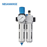 NBSANMINSE DC201 M5 1/8 1/4 3/8 1/2 3/4 1 Air Compressor Oil Lubricator Water Separator Air Filter Regulator Valve