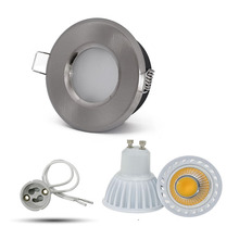 5W GU10 dimmable led Ceiling Installation Embedded Downlight aluminum in chrome for bathroom shower Down light fixtures