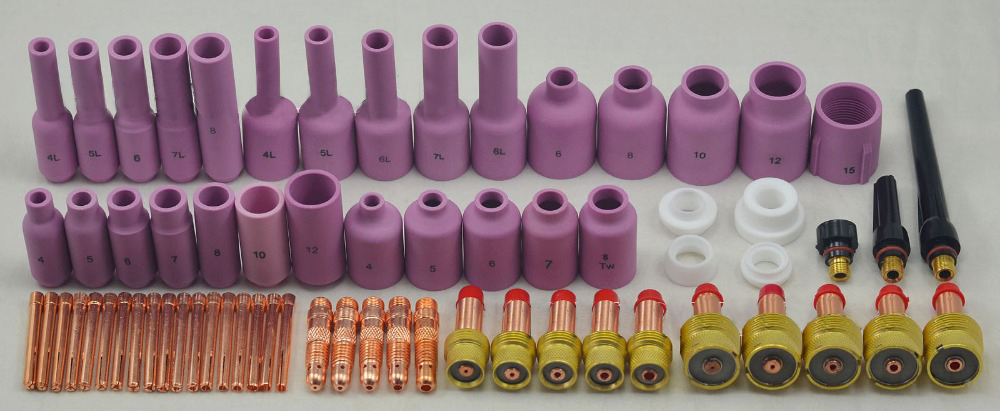 TIG Gas Lens KIT, Tig Torch Welding Alumina Nozzle & Collet Body Back Cap Collet Body Fit TIG Welding Torch SR WP17 18 26,67PK стоимость