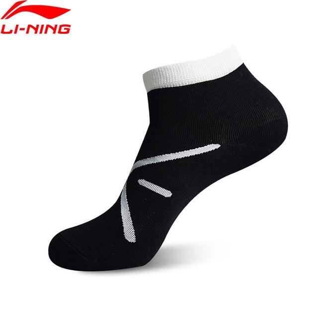 Li-Ning Men Wade Series Socks 42.3%Cotton 34.1%Polyester 19.3%Acrylic 4.3%Spandex LiNing Breathable Sports Socks AWSN151 NWM392