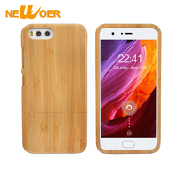 NEWOER Bamboo Case For Xiaomi 6 Bamboo Wood Back Cover Mobile Phone Case For MI 6