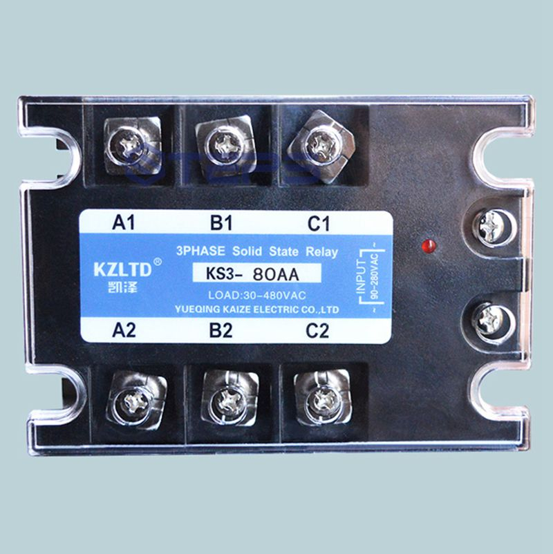 Three phase solid state relay 80A 220V AC to AC Solid contactor relay 380V