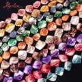 7x9-11-15 мм Бесплатная форма оболочки натуральный камень бусины для DIY ожерелье браслет серьги ювелирные изделия изготовление разделитель Strand 14 \