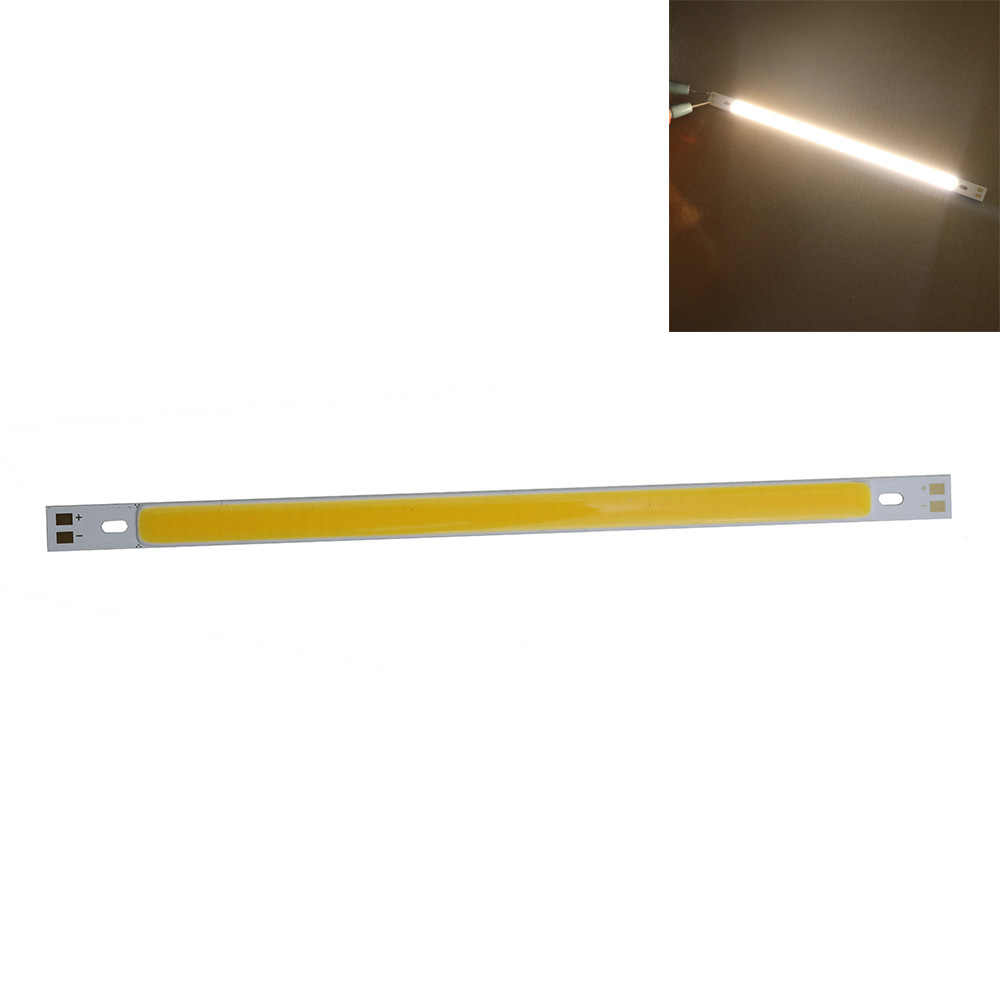 DC12V 10 W 200*10mm COB LED Light Jalur CRI dioda jalur untuk putih hangat putih biru hijau merah DIY proyek pencahayaan factory Outlet