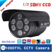 Free shipping 2016 NEW 1/3″ SONY CCD HD 1000TVL Waterproof Outdoor security camera IR 100 meter CCTV Camera
