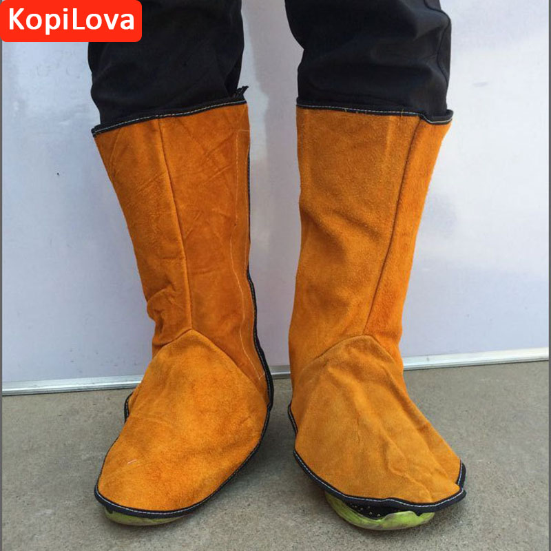 KopiLova Welder's Feet and Shins Cover Boots Protector Anti-fire Sputtering Protection For Welding Metallurgy Feet Protection