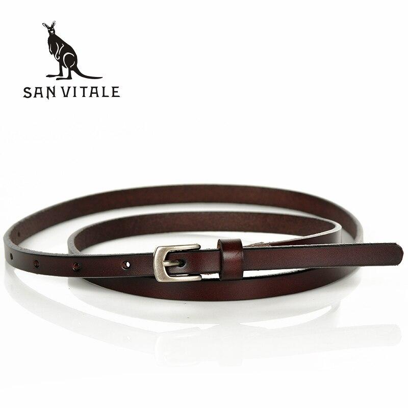 2017 New Design Brand   Belts   Lady's Slender Waist   Belt   Women's Strap Genuine Leather Casual Female Girdle for Skirts Dress Girls
