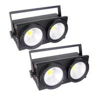 2017 NEW 2eyes 2x100w LED Warm White 200W Led Audience Blinder DMX LED COB 100W LED PAR