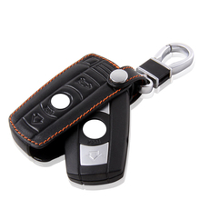 Key Holder Leather For Bmw X1 X3 X5 X6 320 525 Leather Wallet Keychain For Bmw Leather Car Key Case For Bmw Key Holder Leather