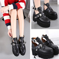 black pumps ladies platform shoes woman spring autumn punk boots chunky high heels pumps women ankle boots for women heels X364