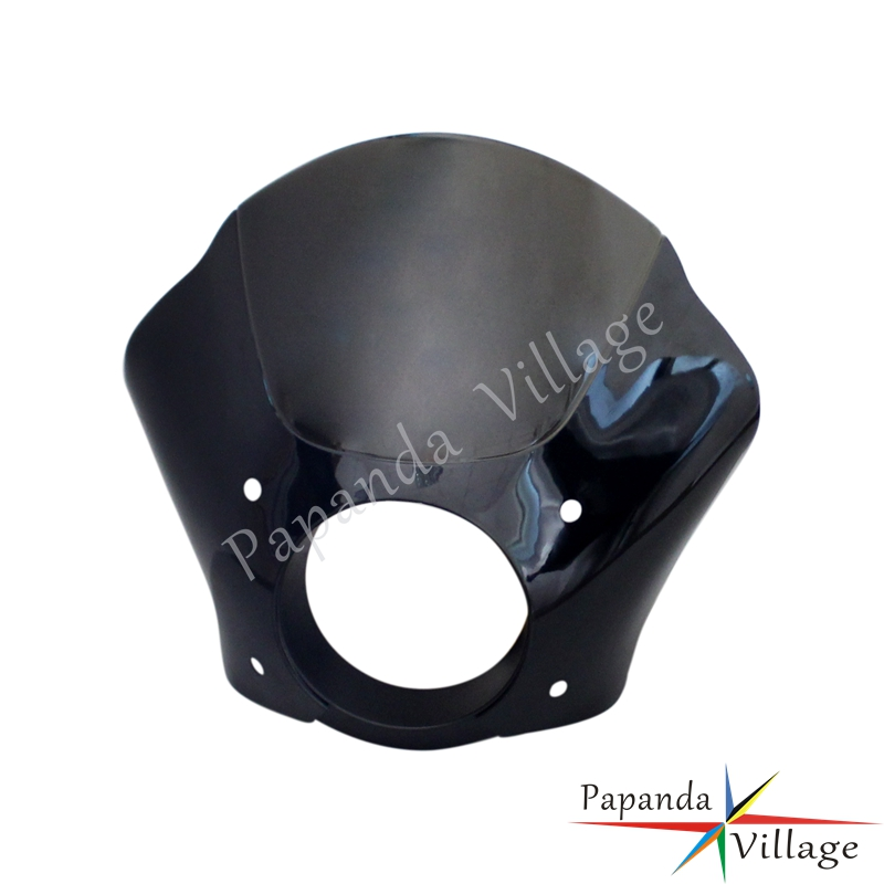 Papanda Black and Smoke Custom Gauntlet Headlight Fairing with Mounting Hardware for Harley Sportster 1100 1200 Iron 883 XL883N in Covers Ornamental Mouldings from Automobiles Motorcycles