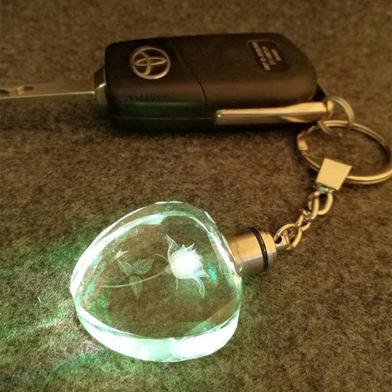 In Design; Love Fairy Heart Crystal Led Flashlight Car Keychain Auto Accessories Keyrings Key Ring For Ford Bmw Kia Lada Vw Peugeot Novel