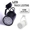Free Fedex 35pcs 15W LED track light for store/shopping mall lighting lamp Color optional White/black Spot light red/blue/green