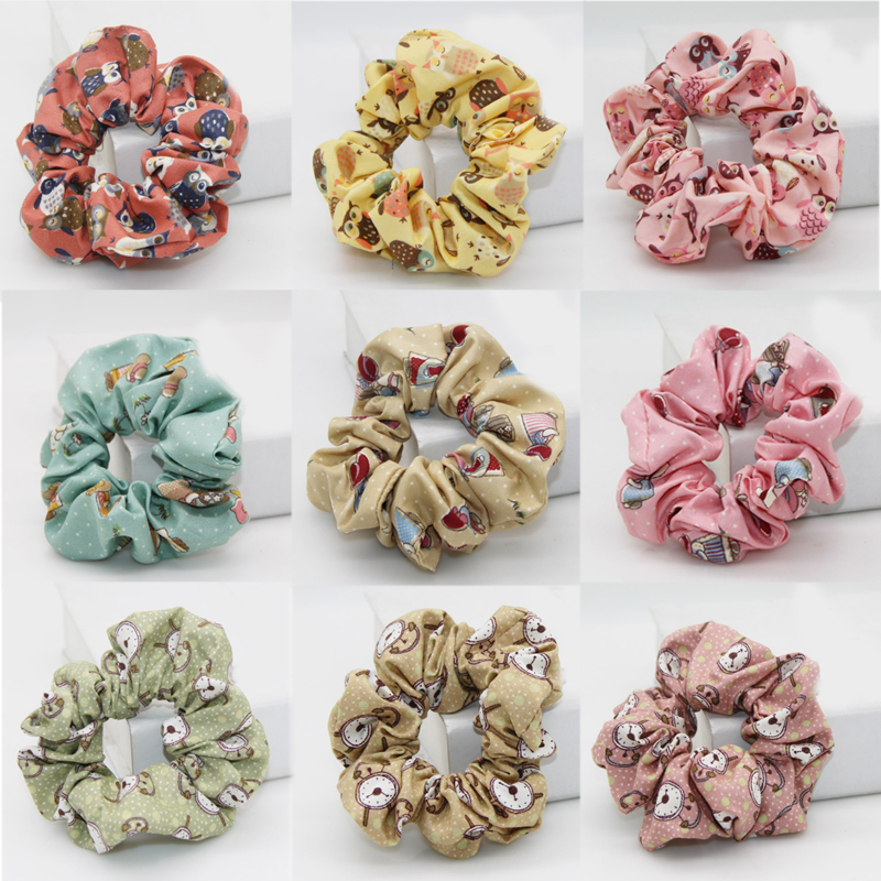 Apparel Accessories Sale 2018 New Animal Hair Rope For Women Cotton Cartoon Flower Girls Hair Accessories Modern And Elegant In Fashion