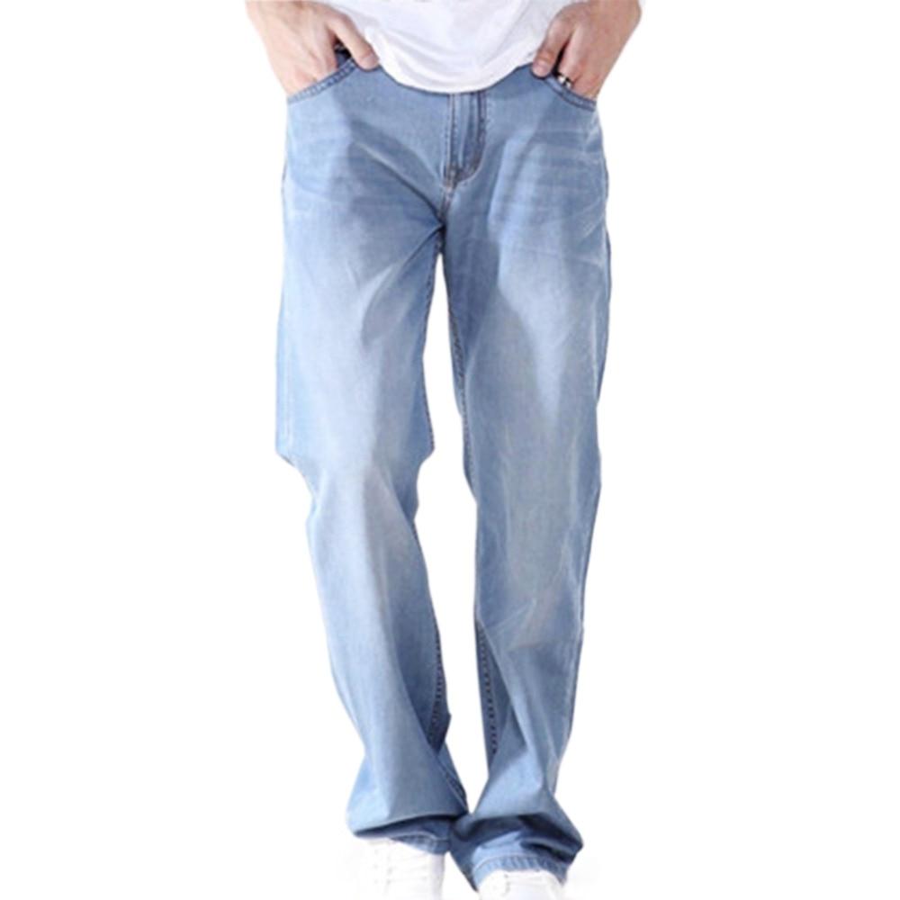Fashion Men Plus Size High Quality Regular Fit Loose Straight Leg Denim Pants Casual Work Long Jeans inc petite new black skinny leg regular fit pants 10p $59 5