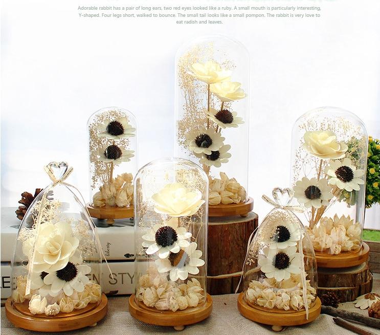 6 Size Glas Droge Bloem Liefde Hartvorm Ornamenten Woondecoratie - Feestversiering en feestartikelen - Foto 5