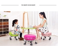 computer chair Wedding dress shop office stool green red orange white pink gold green pink color