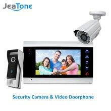 JeaTone 7 inç Görüntülü Kapı Telefonu Görüntülü Interkom 1200TVL Açık Çağrı Paneli + 1200TVL Analog Kamera Erişim Kontrol Sistemi Kapı Zili