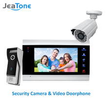JeaTone videoportero 1200TVL de 7 pulgadas, Panel de llamada al aire libre + cámara analógica 1200TVL, sistema de Control de acceso, timbre