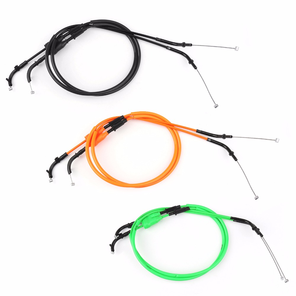 Areyourshop Motorcycle Throttle Cable Push/Pull Wire Line Gas For Kawasaki Z1000 2007-2008 Motorbike Accessories Styling Wire