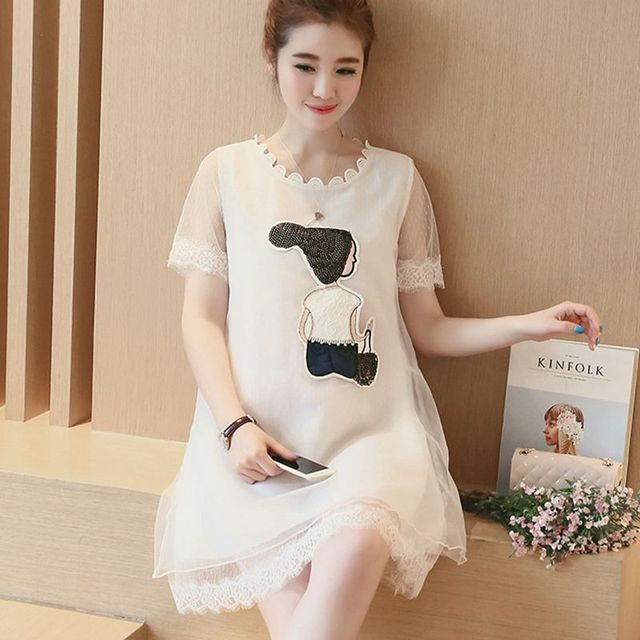 f712112884f Maternity Fashion Summer New Arrival Organza Solid Cute Loose A-Line Plus  Size Pregnancy Dresses