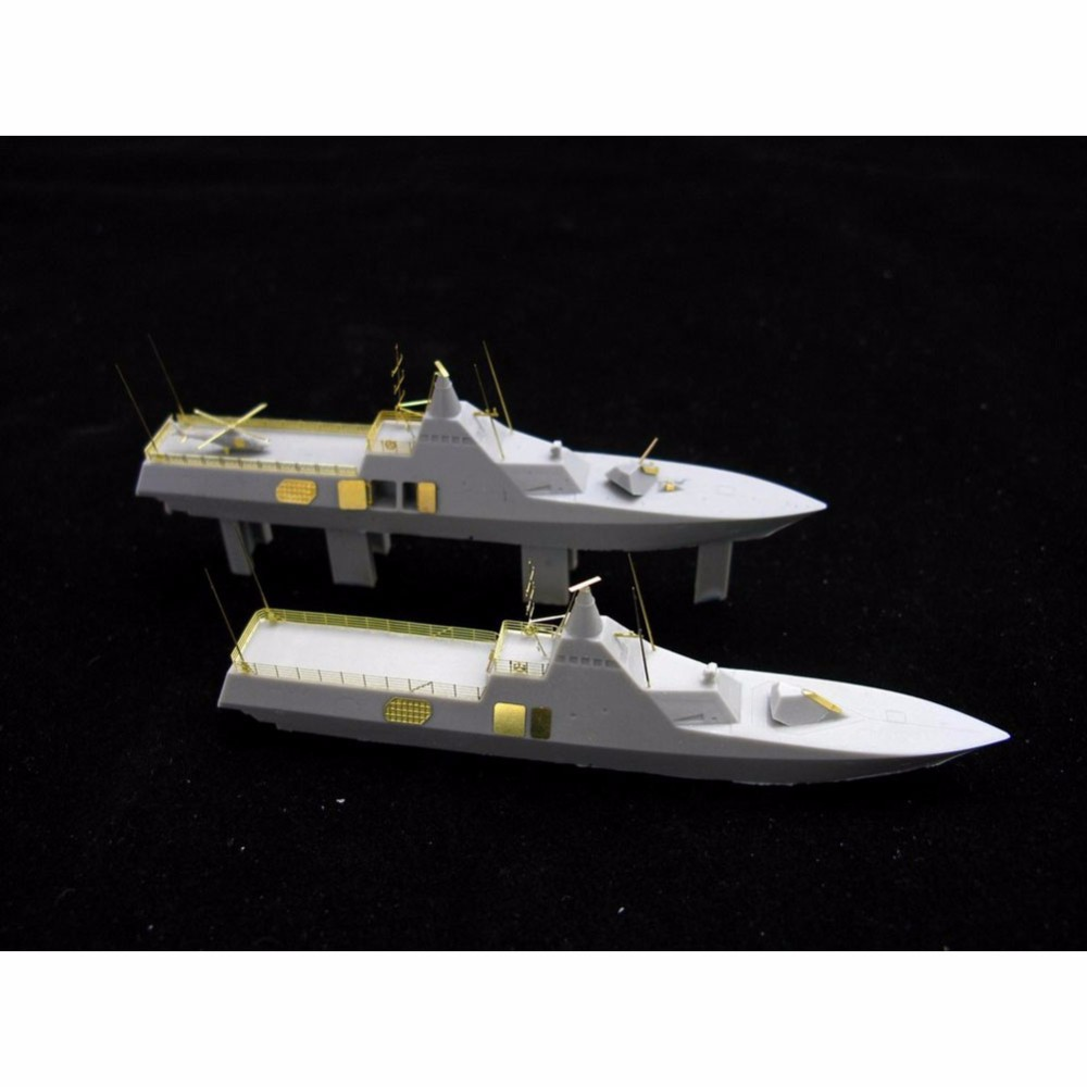 OHS Orange Hobby N07051148 <font><b>1</b></font>/<font><b>700</b></font> HswMS Visby Class Corvette 2 Pcs in <font><b>1</b></font> set Assembly <font><b>Scale</b></font> Military <font><b>Ship</b></font> <font><b>Model</b></font> Building Kits oh image