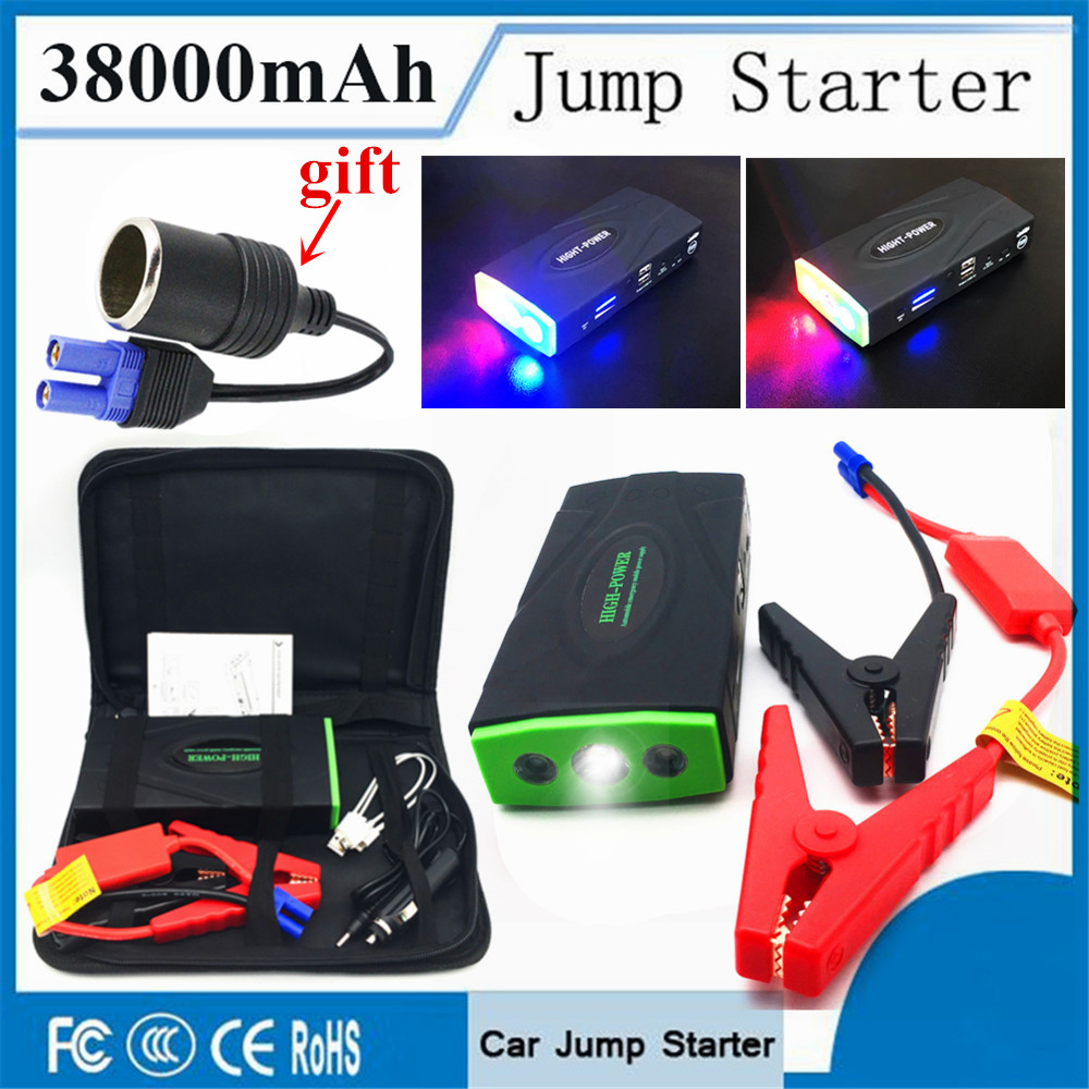 Emergency 38000mAh Starting Device 12V 600A Portable Car Charger For Car Battery Booster Diesel Pettrol Auto Jumper Lighter LED