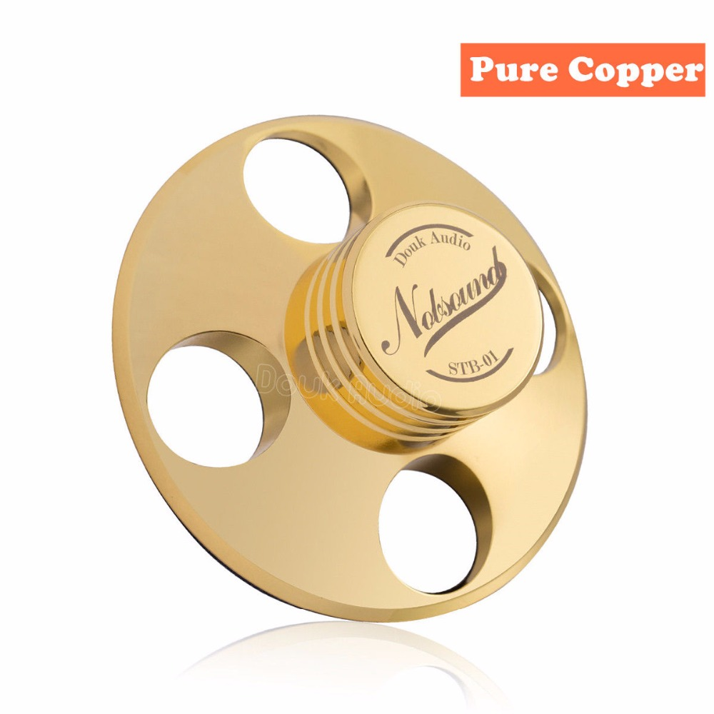 2018 Latest Nobsound Hi-Fi Records LP Disc Stabilizer Turntables Vinyl Clamp Anti-skid Pure Copper Gold /Zinc alloy Silver