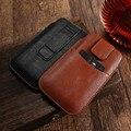 Sacos de telefone móvel universal case para iphone 6 6 s plus 7 plus capa de couro pu homens bolsa carteira bolsa para samsung s8 s6 s7 borda